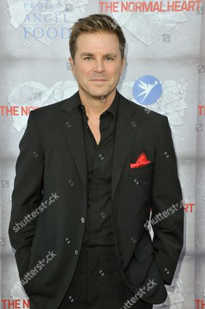 "Aaron McPherson arrives at the LA Premiere of ""The Normal Heart"" held at the WGA Theater, in Beverly Hills, Calif"