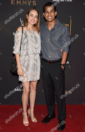 Erick Lopez, Sarah Murphy. Erick Lopez, right, and Sarah Murphy arrive at the 2017 Dynamic and Diverse Emmy Nominee Reception presented by the Television Academy, at the Saban Media Center in North Hollywood, Calif