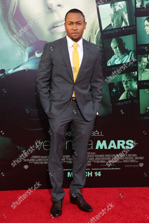 """Percy Daggs III arrives at the LA Premiere of """"Veronica Mars"""", in Los Angeles"""