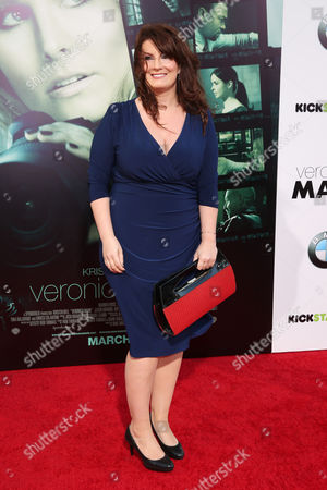 "Writer Diane Ruggiero arrives at the LA Premiere of ""Veronica Mars"", in Los Angeles"