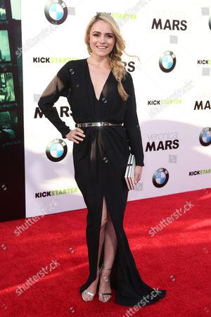 "Amanda Noret arrives at the LA Premiere of ""Veronica Mars"", in Los Angeles"