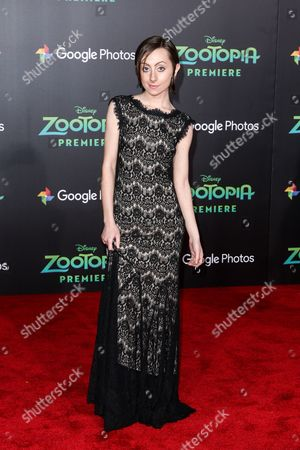 """Stock Photo of Allisyn Arm attends the LA Premiere of """"Zootopia"""" held at El Capitan Theatre, in Los Angeles"""