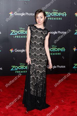 "Allisyn Arm attends the LA Premiere of ""Zootopia"" held at El Capitan Theatre, in Los Angeles"