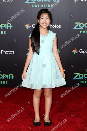 "Nina Lu attends the LA Premiere of ""Zootopia"" held at El Capitan Theatre, in Los Angeles"