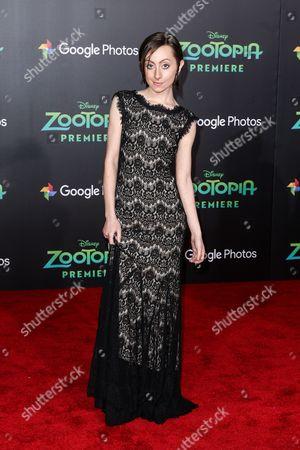 "Stock Image of Allisyn Arm attends the LA Premiere of ""Zootopia"" held at El Capitan Theatre, in Los Angeles"
