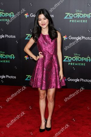 "Tiffany Espensen attends the LA Premiere of ""Zootopia"" held at El Capitan Theatre, in Los Angeles"