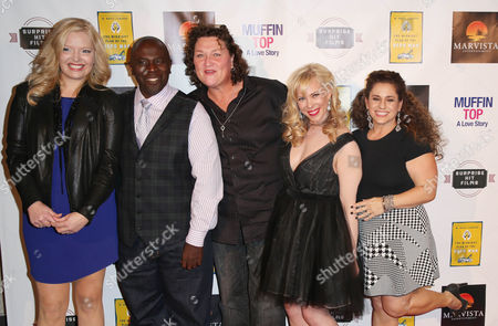 "From left, Melissa Peterman, Gary Anthony Williams, Dot Marie Jones, Cathryn Michon, and Marissa Jaret Winokur pose together at the Muffin Top: A Love Story Premiere at LA LIVE, in Los Angeles. Muffin Top is a body image rom com made by women with the message: ""Love Yourself NOW, Not 5 LBS From Now"
