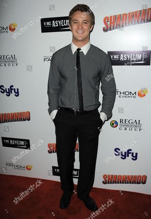 """Michael Welch arrives at the premiere of """"Sharknado"""" at the L.A. Live Theater on in Los Angeles"""