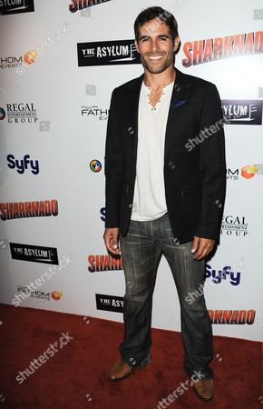 "Christopher Wolfe arrives at the premiere of ""Sharknado"" at the L.A. Live Theater on in Los Angeles"