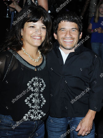 """Mark Povinelli, at right, and Heather Davis attends """"The Hot Flashes"""" premiere afterparty at Lure on in Los Angeles. The Hot Flashes premiere will also serve as a benefit for its official charity partner, the American Cancer Society"""