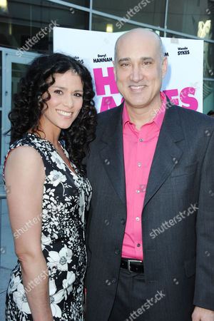 """Kenny Alfonso, at right, and Melissa Ponzio arrives at the LA premiere of """"The Hot Flashes"""" at the ArcLight Hollywood on in Los Angeles"""