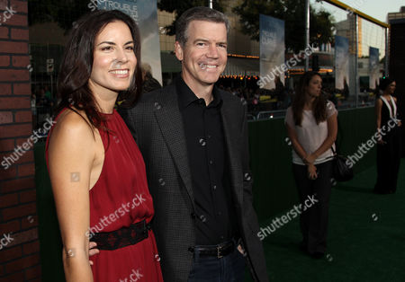 """Director Robert Lorenz, right, and Melissa Lorenz, attend the premiere of """"Trouble With the Curve"""" at the Westwood Village Theater, in Los Angeles"""