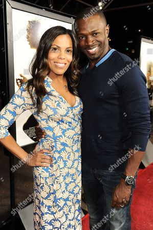 "Actors Aonika Laurent, left, and Sean Patrick Thomas arrive on the red carpet of the special screening of ""12 Years A Slave"" at the Directors Guild of America on in West Hollywood, Calif"