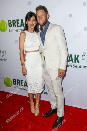 Perry Reeves, left, and Aaron Endress-Fox attend a special screening of 'Break Point' at the TCL Chinese 6 Theatres on in Los Angeles