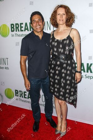 Oscar Nunez, left, and Ursula Whittaker attend a special screening of 'Break Point' at the TCL Chinese 6 Theatres on in Los Angeles