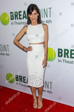 Perry Reeves attends a special screening of 'Break Point' at the TCL Chinese 6 Theatres on in Los Angeles