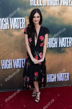 """Melanie Papalia arrives at the special screening of """"Hell or High Water"""" at the Arclight Hollywood, in Los Angeles"""