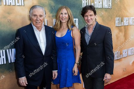 """Producer Sidney Kimmel, from left, Rachel Shane, and John Penotti arrive at the special screening of """"Hell or High Water"""" at the Arclight Hollywood, in Los Angeles"""