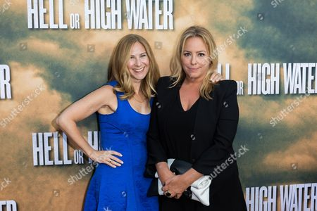 """Producer Rachel Shane, left, and Julie Yorn arrive at the special screening of """"Hell or High Water"""" at the Arclight Hollywood, in Los Angeles"""
