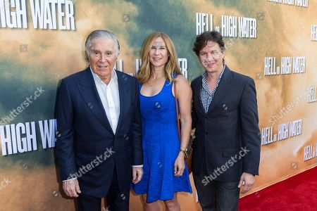 """Stock Photo of Producer Sidney Kimmel, from left, Rachel Shane, and John Penotti arrive at the special screening of """"Hell or High Water"""" at the Arclight Hollywood, in Los Angeles"""