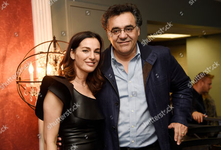 """Rodrigo Garcia, right, writer/director of """"Last Days in the Desert,"""" poses with cast member Ayelet Zurer at a special screening of the film at Laemmle's Royal Theatre, in Los Angeles"""