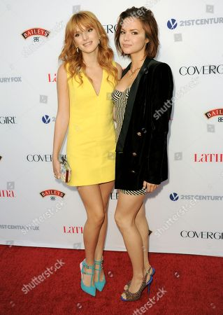 Bella Thorne, left, and Kaili Thorne arrive at the Latina Magazine's Hot Hollywood List event at The Redbury Hotel on in Los Angeles