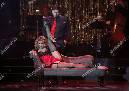 Alexis Carra and Micah Sloat perform at the 14th annual 'Les Girls' at Avalon on in Hollywood, California