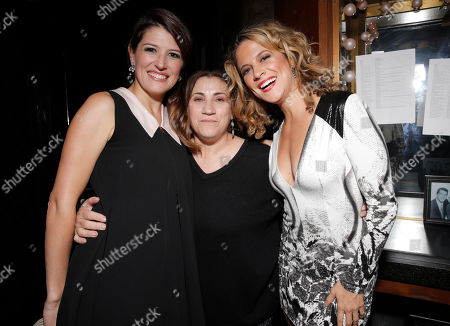 Nicole Parker, Director Lee Martino and Alexis Carra backstage at the 14th annual 'Les Girls' at Avalon on in Hollywood, California
