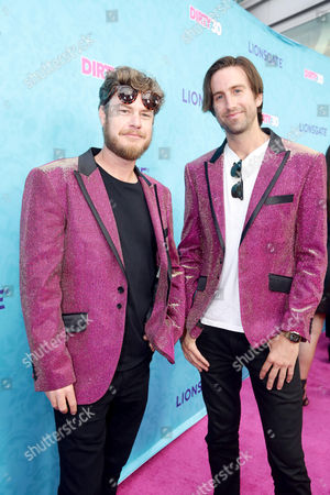 """Kevin Hughes and Tom Banks seen at Lionsgate Premiere of """"Dirty 30"""" at ArcLight Cinemas, in Los Angeles"""