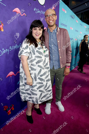 """Stock Image of Adam Lustick and guest seen at Lionsgate Premiere of """"Dirty 30"""" at ArcLight Cinemas, in Los Angeles"""