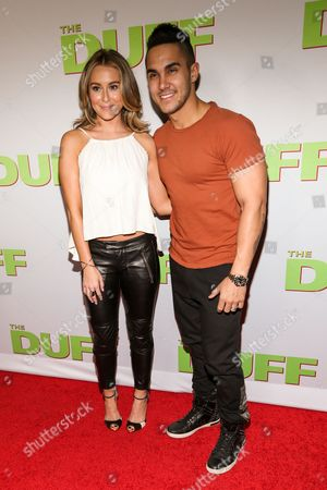 "Alexa Vega, left, and Carlos Pena, Jr. attend the Los Angeles Fan Screening of ""The Duff"", in Hollywood, Calif"