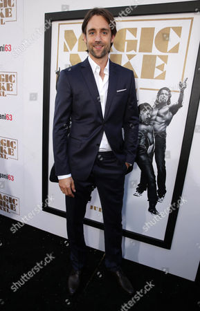 """Producer Reid Carolin seen at the Los Angeles World Premiere of Warner Bros. Pictures' """"Magic Mike XXL"""", in Los Angeles"""