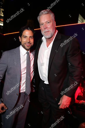 """EXCLUSIVE- Adam Rodriguez and Kevin Nash seen at the Los Angeles World Premiere of Warner Bros. Pictures' """"Magic Mike XXL"""", in Los Angeles"""
