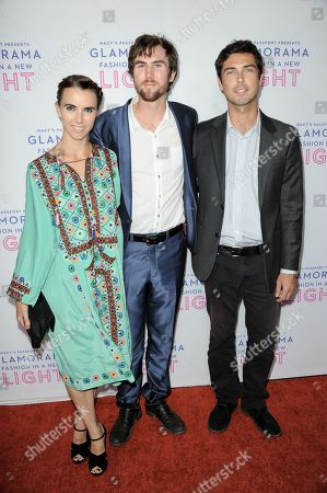 Stock Image of From left, Naomi deLuce Wilding, Tarquin Wilding, Caleb Wilding arrive at the Macy's Passport's Glamorama at The Orpheum Theatre on in Los Angeles
