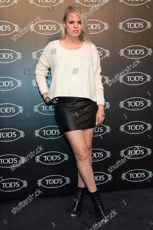 Stock Picture of Becka Diamond arrives at Tod's Boutique Re-Opening party, in New York