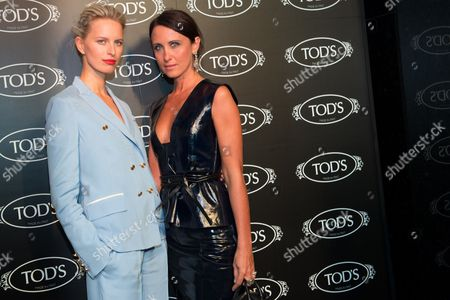Stock Picture of Karolina Kurkova and Alessandra Facchinetti arrive at Tod's Boutique Re-Opening party, in New York