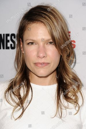 Kiele Sanchez arrives at the Men's Fitness Celebration Of their 2014 Game Changers Issue, in West Hollywood, Calif