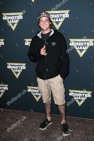Stock Image of Ryan Sheckler attends the MONSTER JAM Event held at Angel Stadium, in Anaheim, Calif