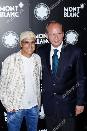 Chairman of Interscope-Geffen A&M Jimmy Iovine and CEO of Montblanc North America Jan Patrick Schmitz attend Montblanc de la Culture Arts Patronage Award honoring Quincy Jones at Chateau Marmont, in Los Angeles