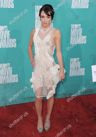 Lauren McKnight arrives at the MTV Movie Awards on in Los Angeles