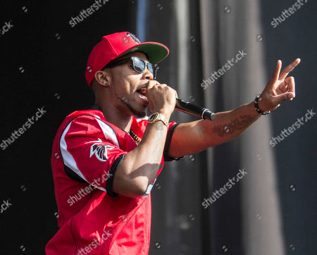 Bobby Ray Simmons Jr. as B.o.B performs during Music Midtown 2014 at Piedmont Park, in Atlanta