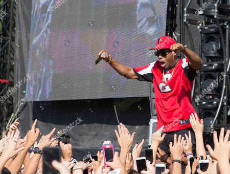 Stock Picture of Bobby Ray Simmons Jr. as B.o.B performs during Music Midtown 2014 at Piedmont Park, in Atlanta