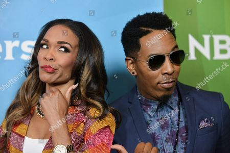Michelle Williams, left, and Deitrick Haddon attend the NBC 2014 Summer TCA held at the Beverly Hilton Hotel, in Beverly Hills, Calif