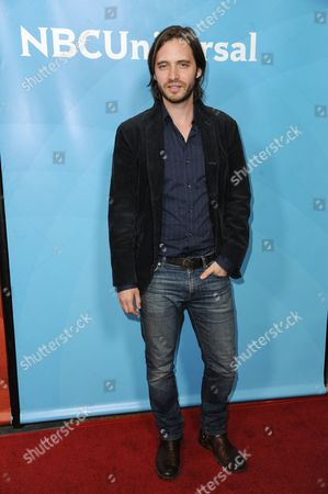 Aaron Stanford attends the NBC 2014 Summer TCA held at the Beverly Hilton Hotel, in Beverly Hills, Calif
