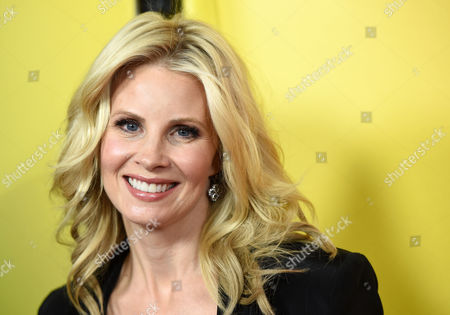 """Monica Potter, a cast member in the television series """"Parenthood,"""" poses at the NBC 2015 Winter TCA Press Tour at The Langham Huntington Hotel, in Pasadena, Calif"""