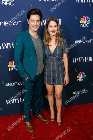 Stock Image of Ben Feldman, left, and Michelle Mulitz arrive at the NBC and Vanity Fair Toast to the 2016 - 2017 TV Season, in Los Angeles