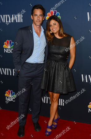 Stock Image of Adam Kaufman, left, arrives at NBC And Vanity Fair's 2014 - 2015 TV Season Event at Hyde Sunset Kitchen on in Los Angeles