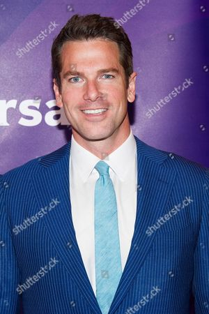 Thomas Roberts arrives at the NBCUniversal New York Summer Press Day event at The Four Seasons Hotel, in New York