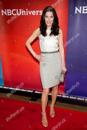 Jaime Murray arrives at the NBCUniversal New York Summer Press Day event at The Four Seasons Hotel, in New York
