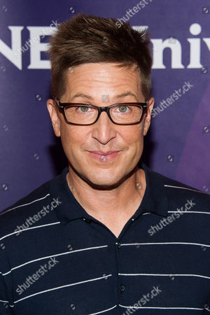 Spike Feresten arrives at the NBCUniversal New York Summer Press Day event at The Four Seasons Hotel, in New York
